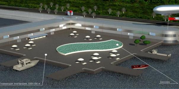 """Water platform at passenger terminal (according to the Program """"Sea Ring"""")"""