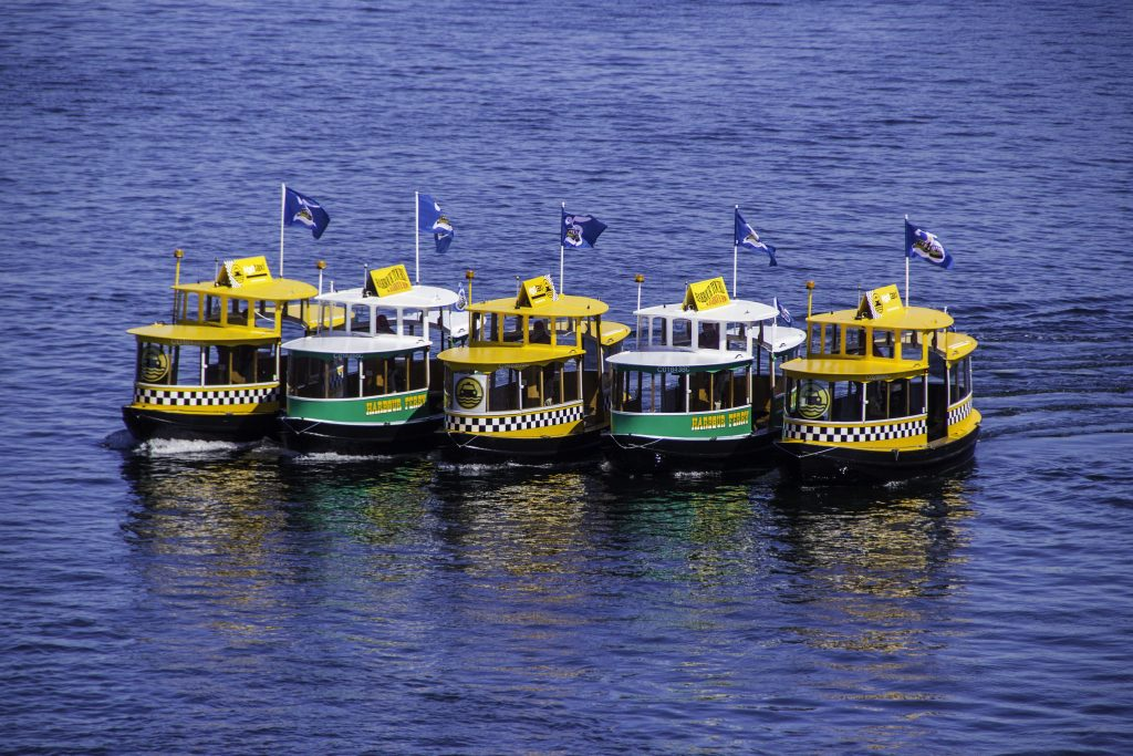 """Water taxi"" in Vancouver (Canada)"