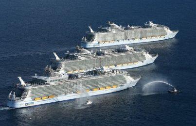 Корабль дня — три самых больших круизных лайнера в мире вместе